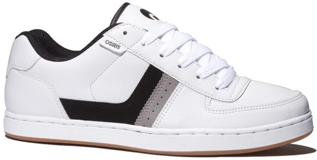 Vegan Skateboard shoe from Osiris in White Black Gray