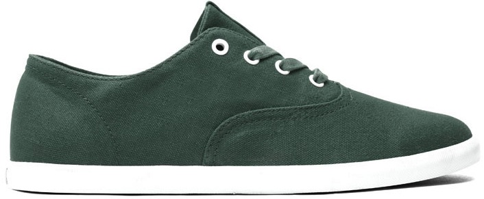 Green Canvas Vegan Skateboard shoe