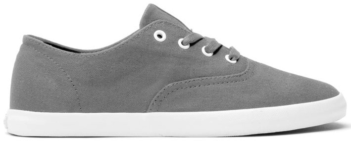 Grey Canvas Vegan Skateboard shoes