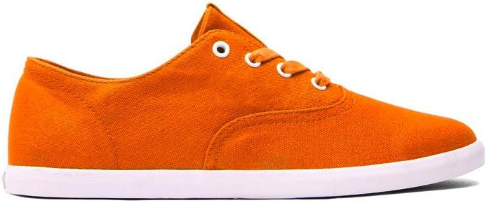 Orange Canvas Vegan Skateboard Shoe