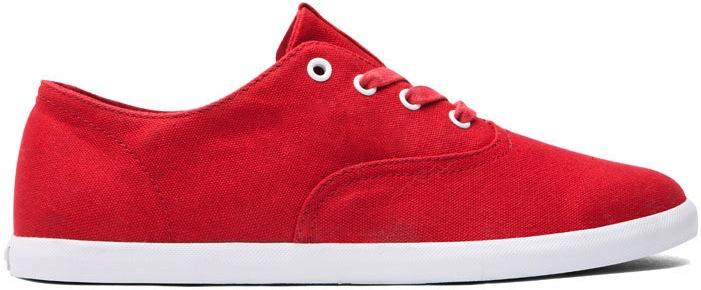 Red Canvas Vegan Skateboard Shoe