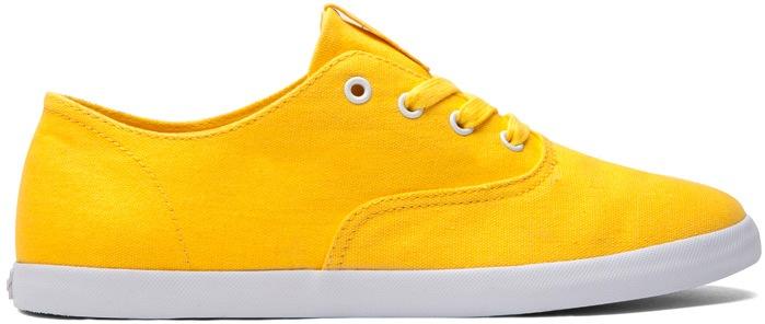 Yellow Canvas Vegan Skateboard Shoe