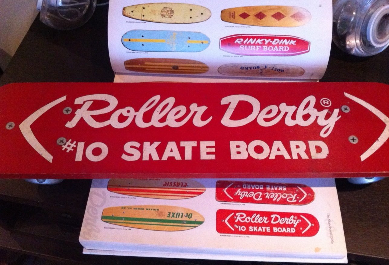 Roller Derby Skate Board #10 with Disposable Skate Board Bible
