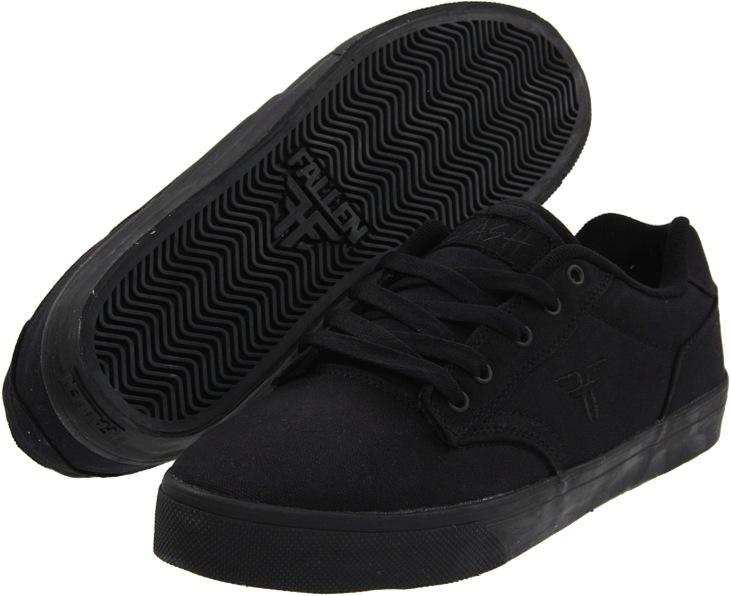 Vegan Black Skateboard Shoes from Fallen