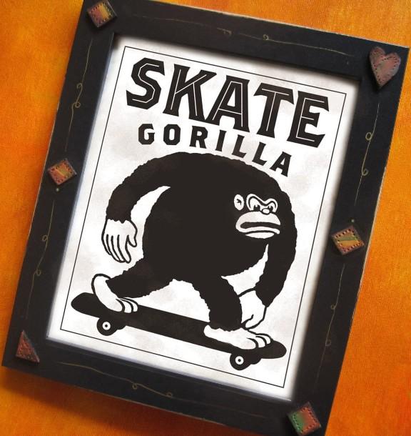 Skateboarding Gorilla