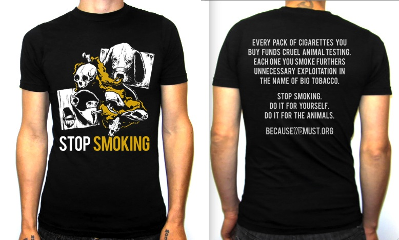 Because We Must org, Vegan Straight-Edge T-shirt