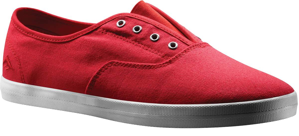 Red Vegan Skateboard shoes from Emerica