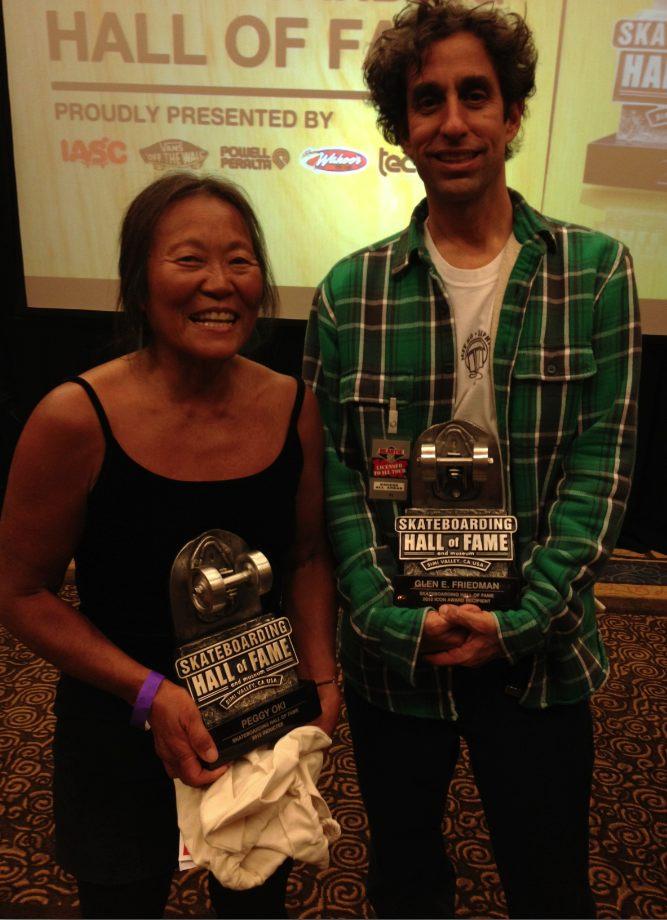 Peggy Oki, Glen E. Friedman, Skateboard Hall of Fame