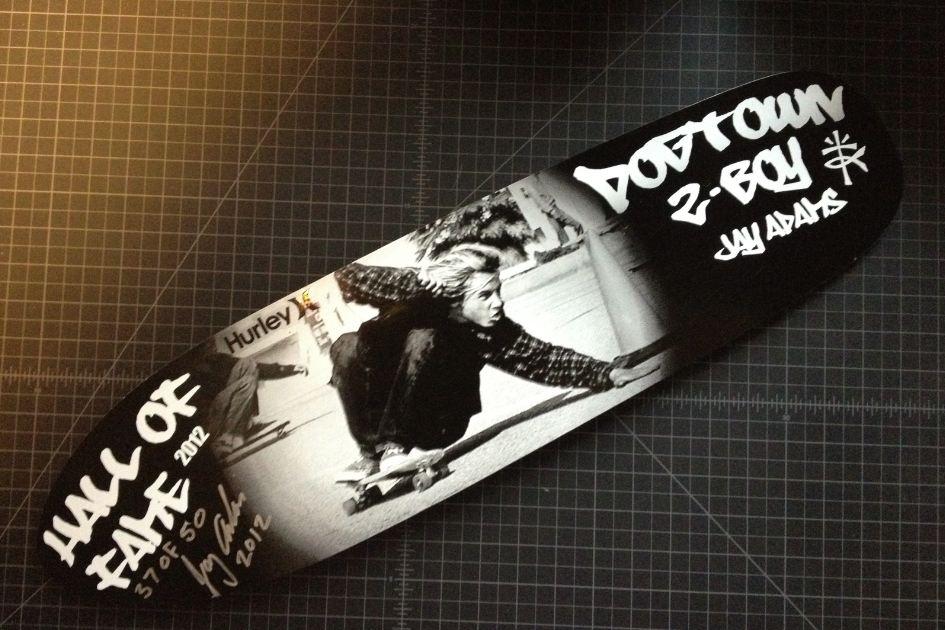 Jay Adams, Z-Flex, autographed skateboard