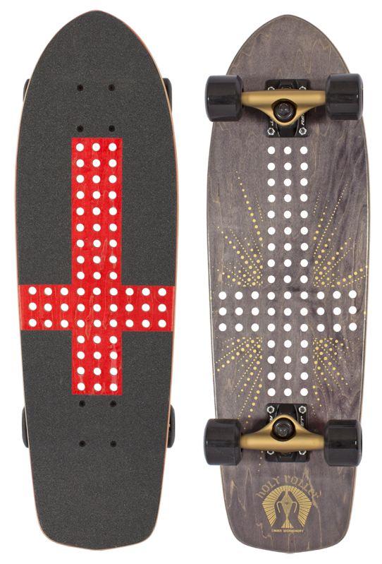 Alien Wrokshop Holy Roller upside down cross skateboard