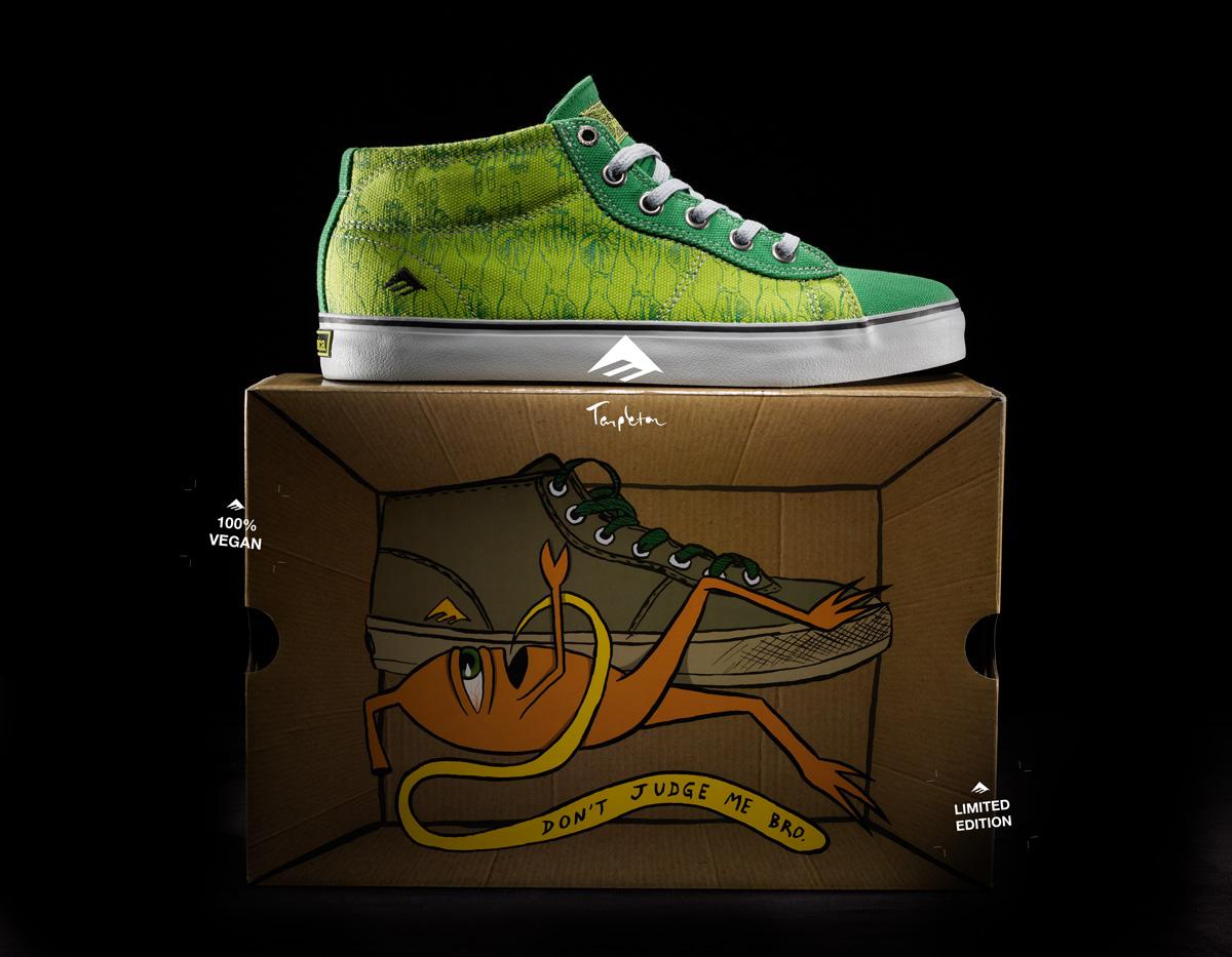 Vegan Skateboard shoes from Emerica, Ed Templeton