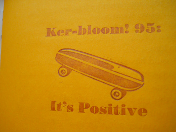 Ker-Bloom Zine Artnoose Letterpress