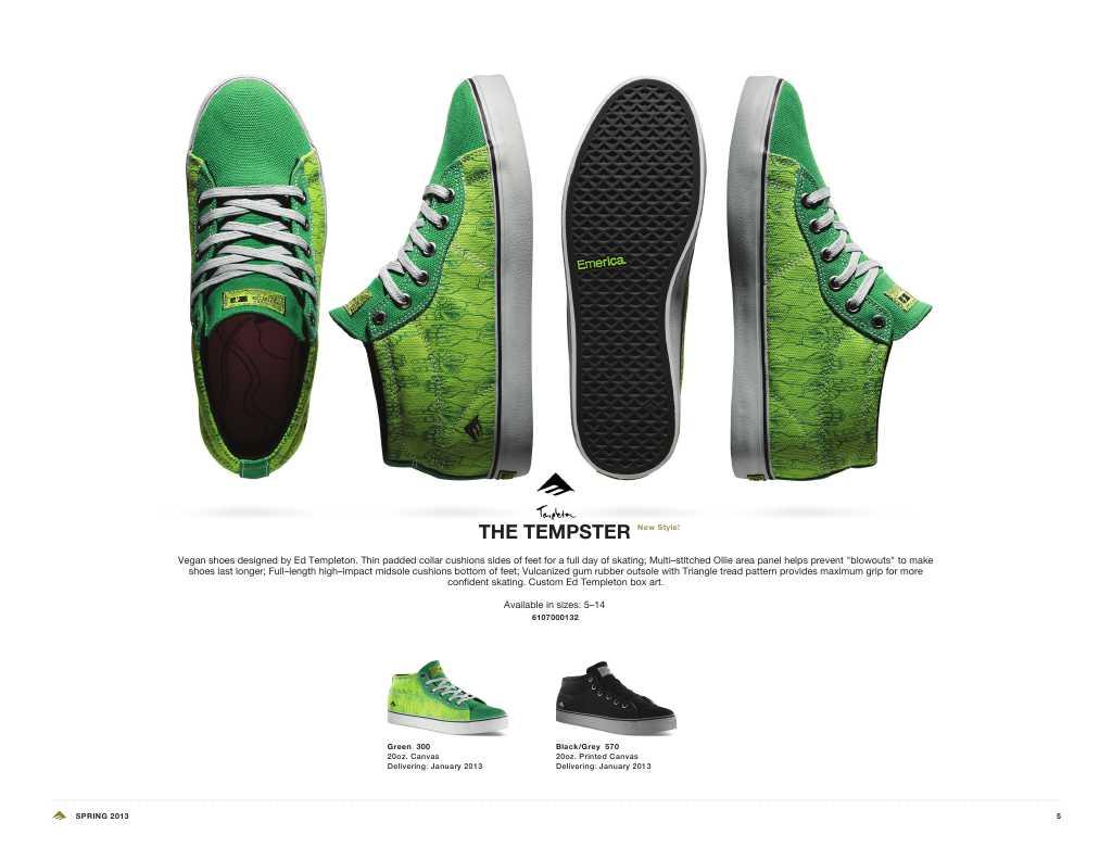 Ed Templeton Vegan Skateboard Shoes Emerica