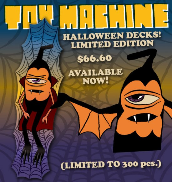Limited Edition Toy Machine Halloween Skateboard Deck