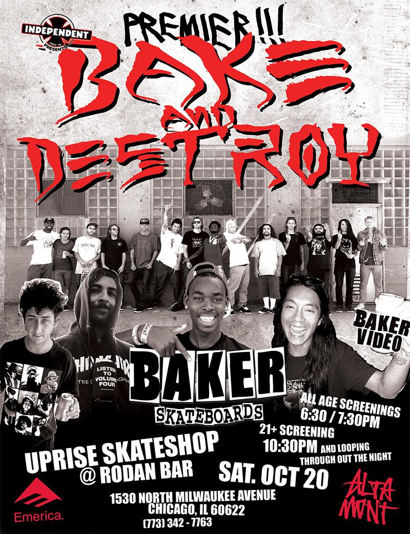 Baker Video Premier Bake and Destroy Thrasher Baker Skateboards Andrew Reynolds The Boss