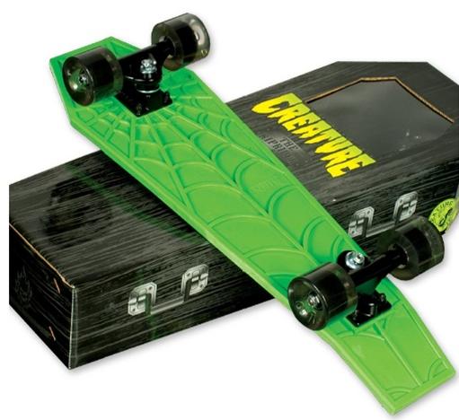 Creature Rip Rider Coffin shaped cruiser skateboard