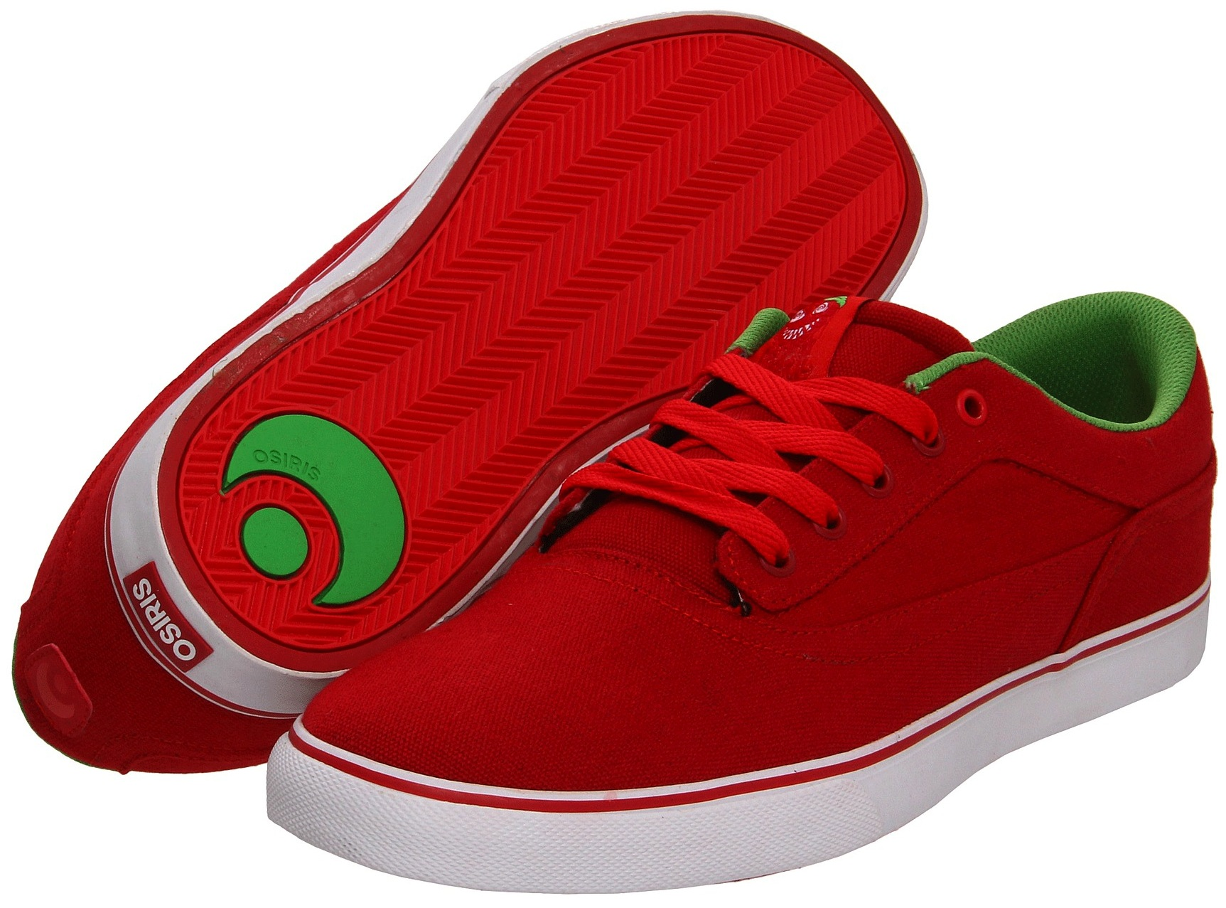 Osiris Caswell Berry Vegan Skateboard Shoes Canvas Strawberry