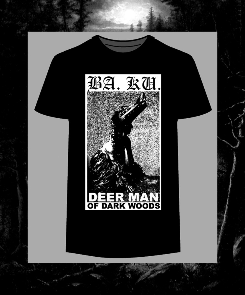 Deer Man Of Dark Woods T-Shirt, Metal Skateboard T-shirt