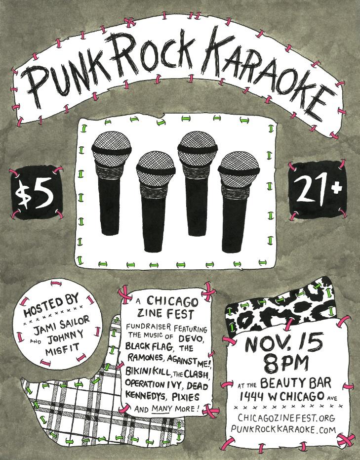 Punk Rock Karaoke Chicago Zine Fest