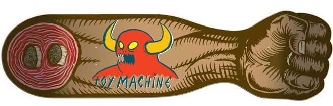 Toy Machine Fist of Fury Skateboard Deck cruiser board