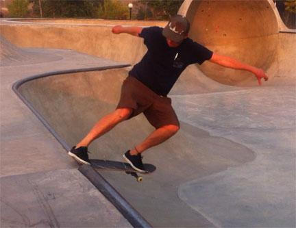 Kevin Marks Vegetable Shredder Vegan Skateboarder