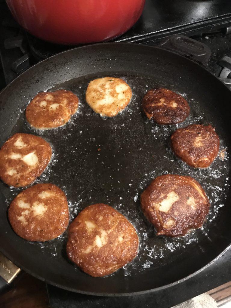 vegan latkes potato pancakes