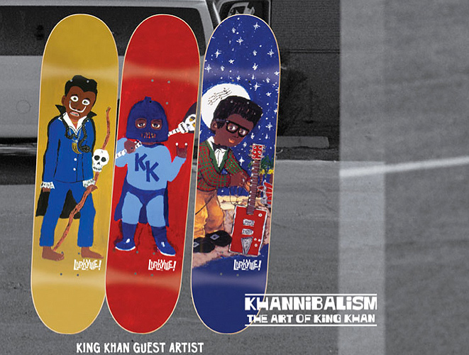 King Khan, Screamin' Jay Hawins, Bo Diddly Skateboards