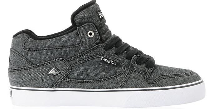 Emerica Hsu Zumeiz Black Denim Vegan Skateboard shoe