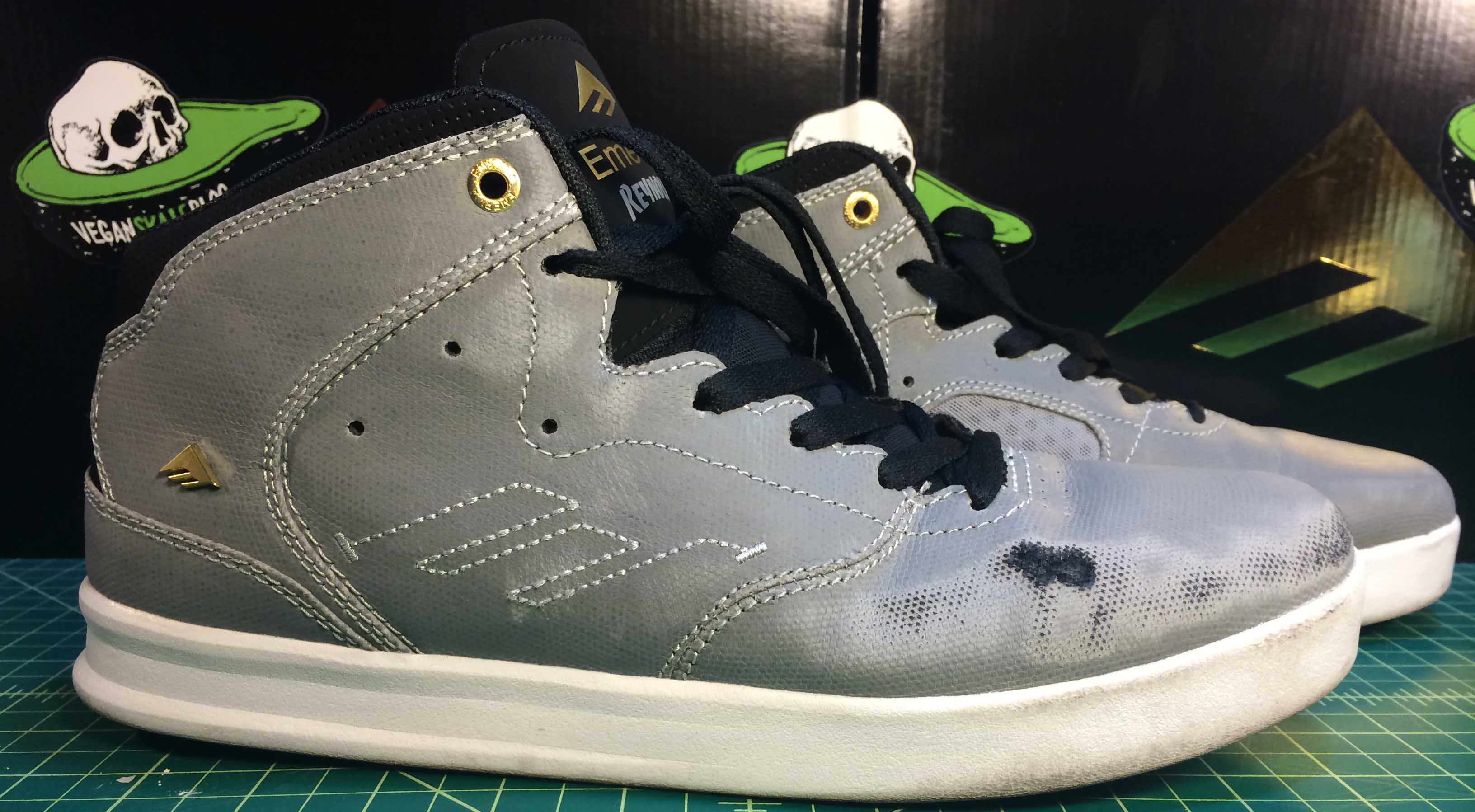 Emerica The Reynolds Vegan Skateboard Shoe Mid-Top Synthetic PU Coated Canvas