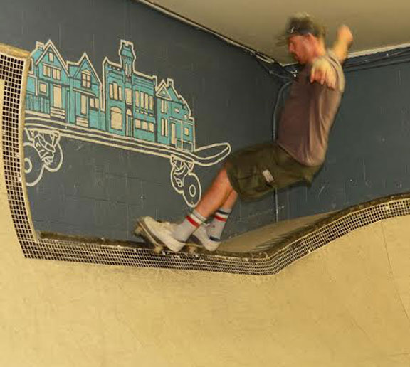 Launch Community through skateboarding Kevin Marks Old man on a skateboard