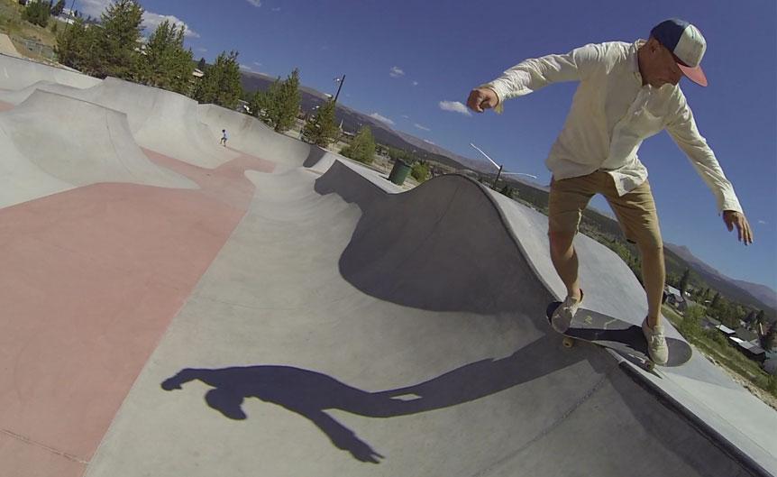 take your dad skateboarding day feeble fake