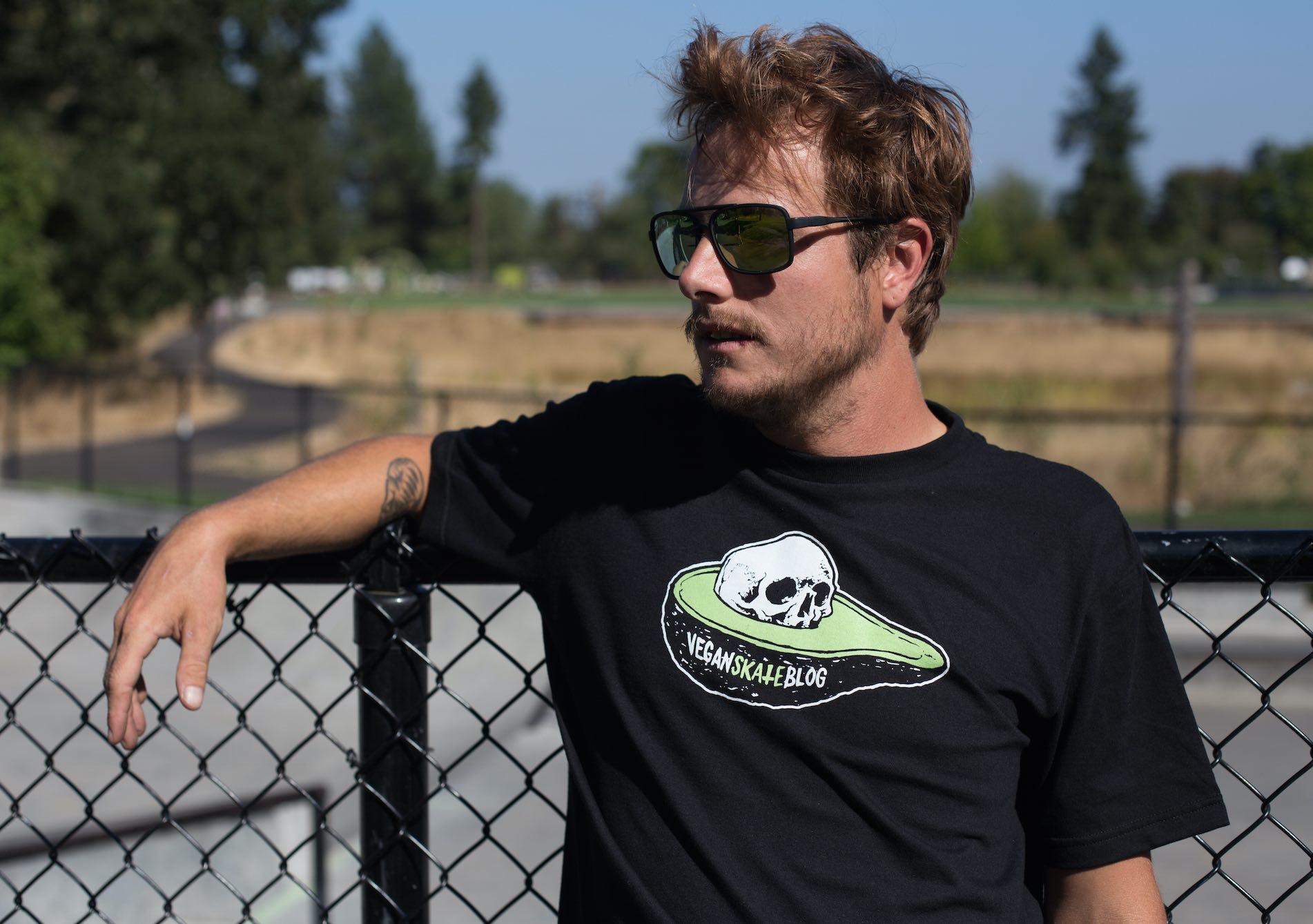 vegan skater Avocado Skull Pit sweatshop-free fashion