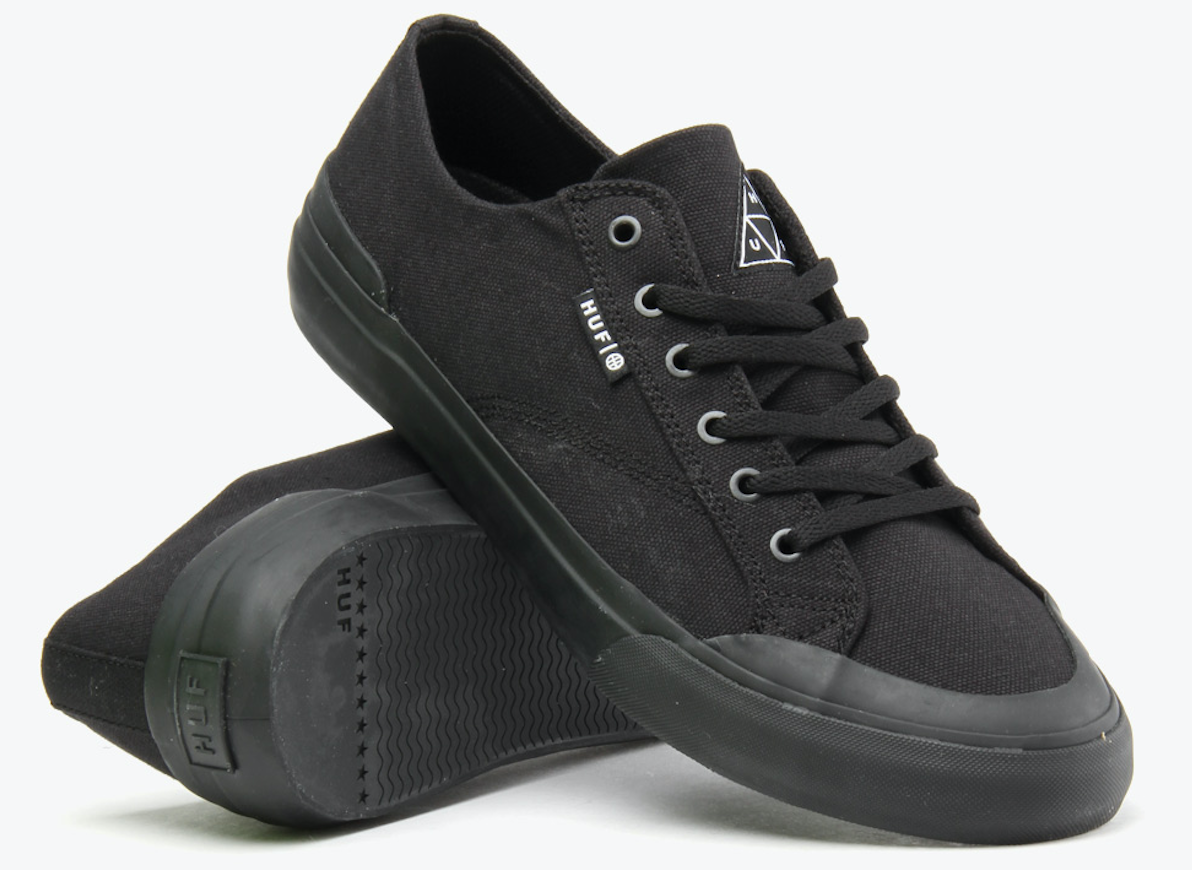 Huf Classic Lo Vegan skateboard shoe canvas animal friendly shoes