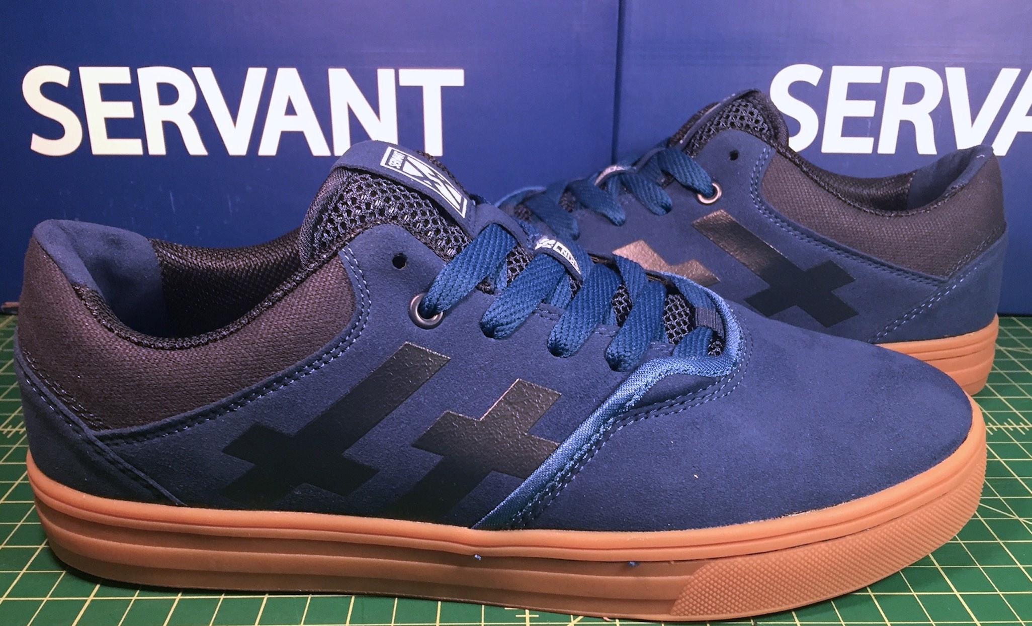 Servant Dagon vegan skateboard shoes faux suede