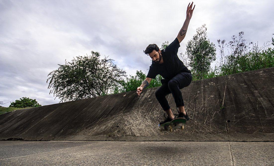 vegan skateboarder