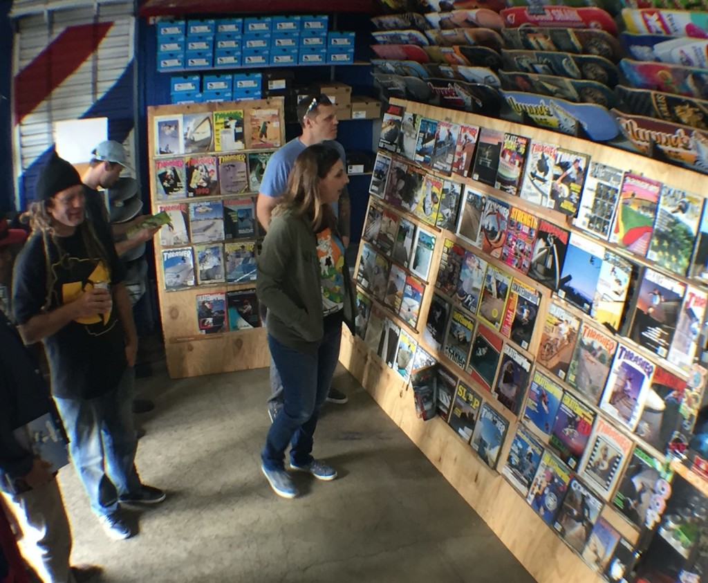 Look Back Library exhibits at Slappy's Garage in San Diego