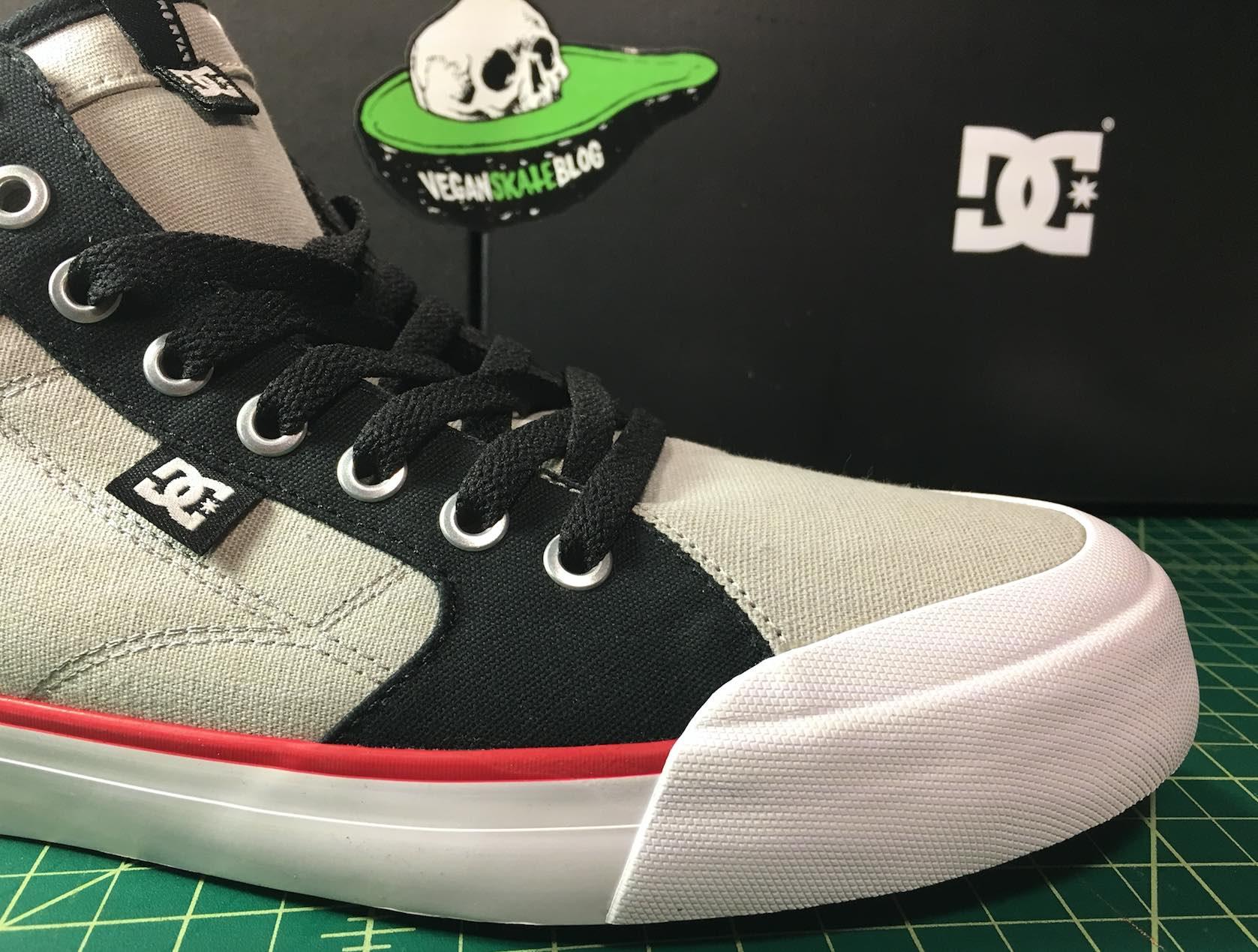 Evan Smith Vegan Skateboarder Veg Non-leather canvas shoe DC Hi-top vegetable shredder