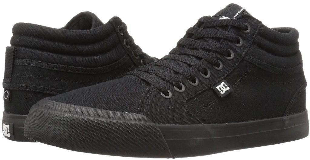 DC Evan Smith Vegan Skateboard Shoes Canvas Hi-top all black