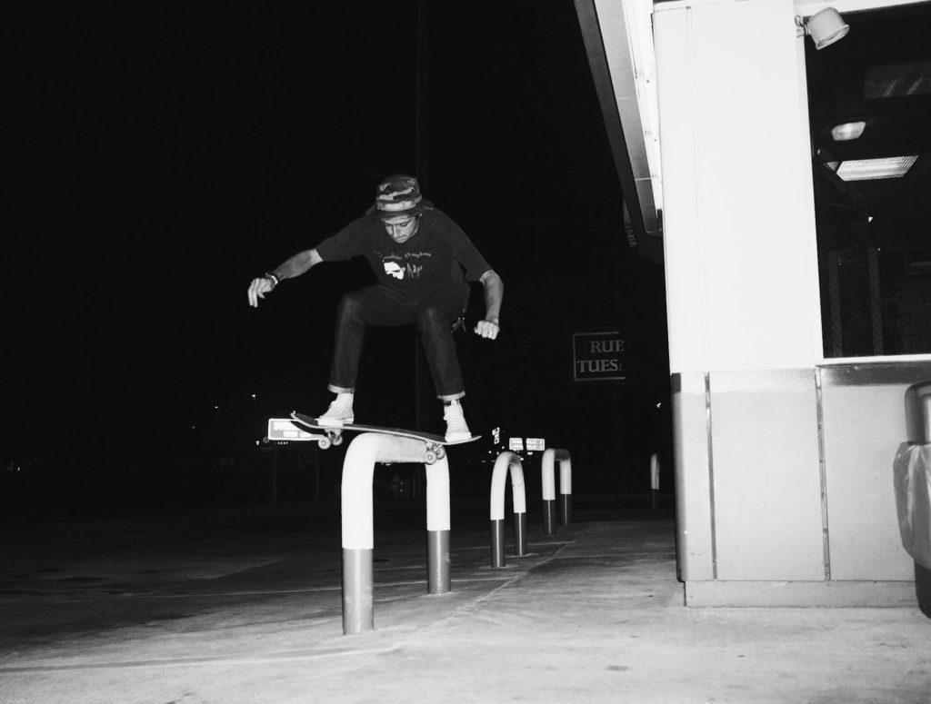 Michael Dean Vegan Skateboarder Board Slide