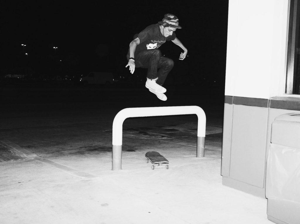 Michael Dean Vegan Skateboarder Hippy Jump